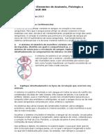 Estudo dirigido Sistema Cardiovascular