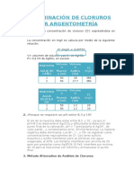 Determincacion de Cloruros Por Argentometria