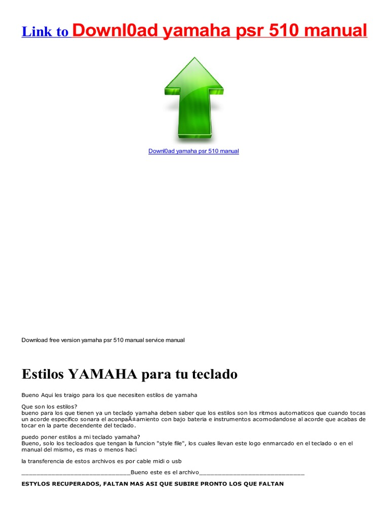 service manual yamaha psr 510 manual for free double bass funk