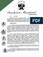Resolución Ministerial Asignaciones Iglesia Católica 2016
