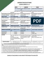 Utp Calendario Academico 2016 2017