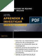 Aprender a Investigar Investigando
