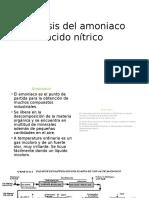 Síntesis Del Amoniaco Acido Nítrico