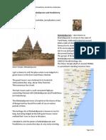 Travelogue ATripToMahabalipuramPondicherry