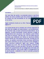 2014 Doctrina y Ejemplo Obligación Hacer Escritura Pública (Paraguay)