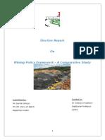 Elective Report - Mining Versus Environmental Laws Scenario Worldwide - Savita