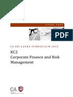 KC-02 Corporate Finance & Risk Management