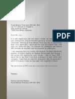 Ptj Resign Letter