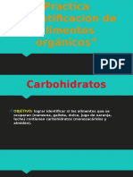 "Practica # 8 ""identificación de alimentos orgánicos"""
