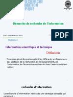 Démarche de Recherche de l'Information