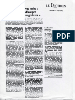 Redécouper Les Frontières Yougoslaves 1991