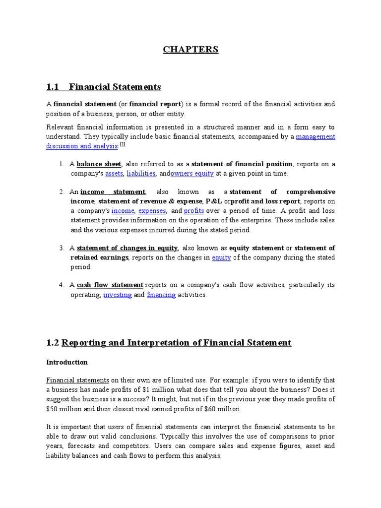 raksha financial statement project financial statement income