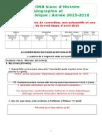 DNB Blanc 2015-2016 Le Corrigé