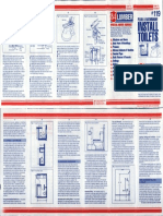 84 Lumber How to Install Toilets Brochure