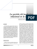 Articulo Gestion Del Marketing Relacional en La Empresa