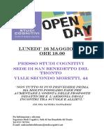 Open Day Studi Cognitivi SBT