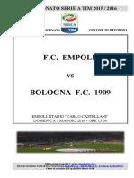 Empoli Bologna 36giornataseriea