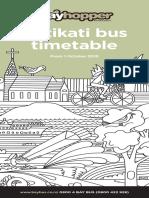 Katikati Timetable Web