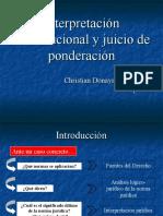 Interpretacion Constitucional y Test de Ponderacion en El Peru