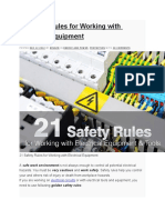 21 Safety Rules for Working With Electrical Equipment