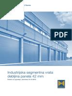 Industrijska Segmentna Vrata 42 Mm