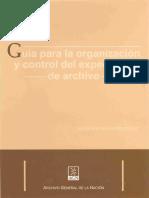 Guia para la organizacion y control de expediente de archivo