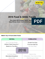 2016 Food Drink Trends Mintel Katya Witham