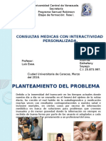 Proyecto de Gestion Consultas Medicas Con Interactividad Personalizada