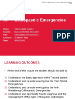 Intro to Orthopedic Emergencies - RCSI Orthopaedic Emergencies - MK1