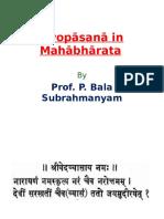 Śivopāsana in Mahābhārata