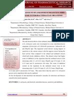 Anti-bacterial Effects of Aframomum Melegueta Seed