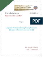 linguistic politness
