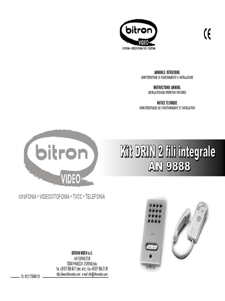 Bitron Schemi Elettrici : Cornetta citofono bitron età preistorica altri argomenti