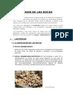 ORIGEN Y TIPOS DE ROCAS
