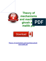 Theory of Mechanisms and Machines Ghosh and Mallik PDF