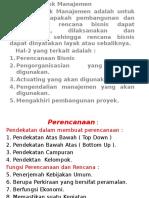 STUDI KELAYAKAN BISNIS Aspek Manajemen