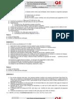 Contabilidade - Curso de Noções de Contabilidade 07 Exercícios de Fixação