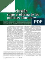 La inclusión como problemas de las políticas publicas