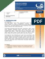 5. Modul Perancangan Pabrik Percobaan Pilot Plant