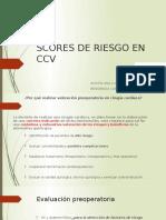 Scores de Riesgo en Ccv