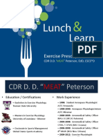NHC Lunch and Learn (Peterson)