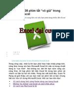 Tổng Hợp Các Phím Tắt Excel
