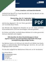 Verkehrsma Nahmen Papst Direktion 3 Dt Bundestag