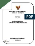 Peraturan Walikota Denpasar Nomor 12 Tahun 2014 Tentang Peraturan Zonasi Kecamatan Denpasar Selatan_771949.pdf