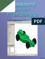 Autodesk Inventor- F1 Team Challenge Car