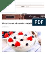 Alimentos Que Não Contêm Carboidratos Para Dietas - Bolsa de Mulher