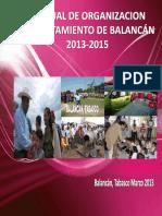 Manual de Organización Municipal Caso 270001