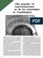 ANABITARTE URRUTIA La Vida Popular en Las Representaciones Románicas de Los Menologios de Guadalajara