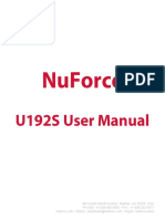 Nuforce U192S Manual