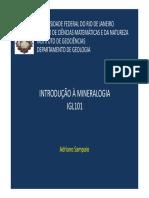 Int à Mineralogia - Aula 08